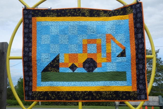 Finished digger quilt