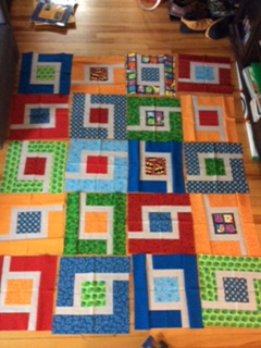 jungle path block quilt