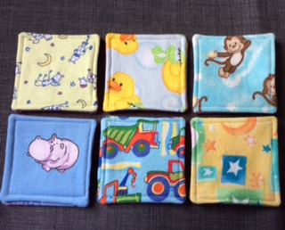 Six fabric memory game