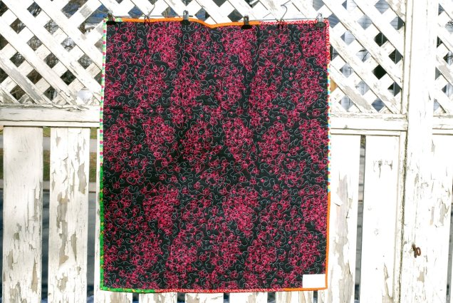 back of the baby quilt