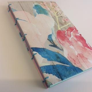 Floral covered handbound journal.