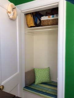 A closet turned into a calm zone.